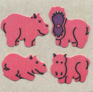Pack of Furrie Stickers - Hippos