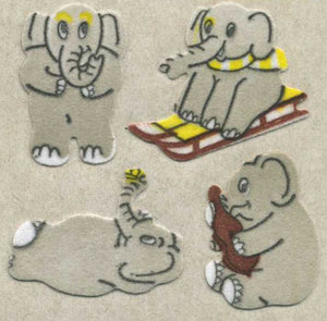 Pack of Furrie Stickers - Elephants
