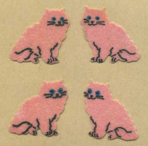 Pack of Furrie Stickers - Pink Cats