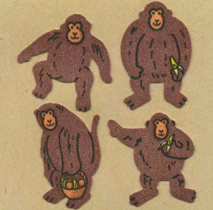 Pack of Furrie Stickers - Monkeys