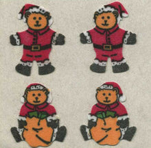 Load image into Gallery viewer, Pack of Furrie Stickers - Santa Bears