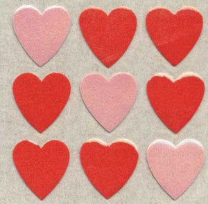 Pack of Furrie Stickers - Red Hearts