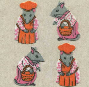 Pack of Furrie Stickers - Mr & Mrs Mouse
