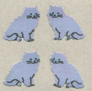 Pack of Furrie Stickers - Purple Cats