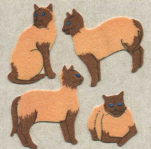 Pack of Furrie Stickers - Siamese Cats