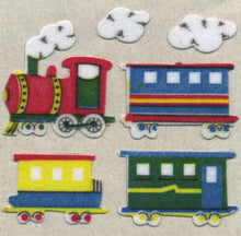 Load image into Gallery viewer, Pack of Furrie Stickers - Steam Trains