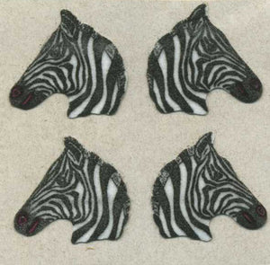 Pack of Furrie Stickers - Zebras