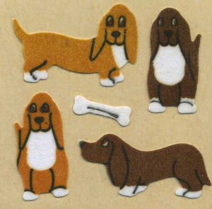 Pack of Furrie Stickers - Basset Hounds