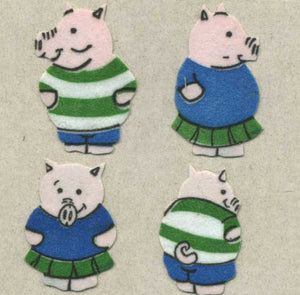 Pack of Furrie Stickers - Boy & Girl Piggies