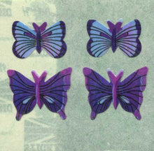 Load image into Gallery viewer, Pack of Pearlie Stickers - Blue Butterflies
