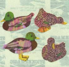 Load image into Gallery viewer, Pack of Pearlie Stickers - Mallard Ducks