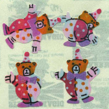 Load image into Gallery viewer, Pack of Pearlie Stickers - Teddy Clowns