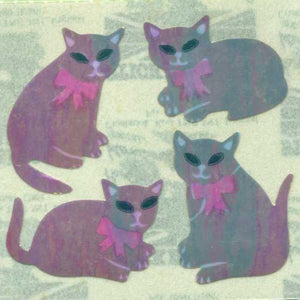 Pack of Pearlie Stickers - Black Cats