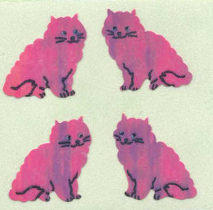 Pack of Pearlie Stickers - Pink Cats