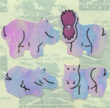 Load image into Gallery viewer, Pack of Pearlie Stickers - Hippos