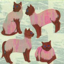 Load image into Gallery viewer, Pack of Pearlie Stickers - Siamese Cats