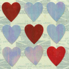 Load image into Gallery viewer, Pack of Pearlie Stickers - Pink Hearts