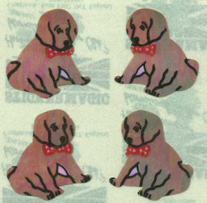 Pack of Pearlie Stickers - Puppies Sitting