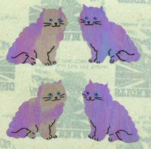 Load image into Gallery viewer, Pack of Pearlie Stickers - Purple Cats