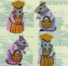 Load image into Gallery viewer, Pack of Pearlie Stickers - Mr & Mrs Mouse
