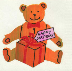 Pack of Pearlie Stickers - Birthday Bear
