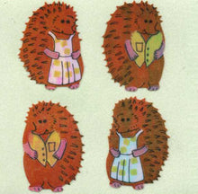 Load image into Gallery viewer, Pack of Pearlie Stickers - Mr & Mrs Hedgehog