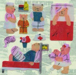 Pack of Pearlie Stickers - Micro Hospital Teds