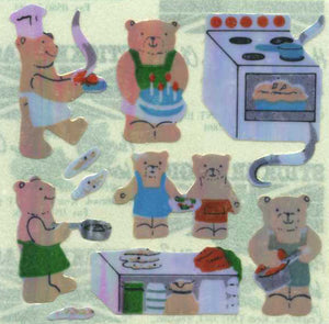 Pack of Pearlie Stickers - Micro Teddy Kitchen