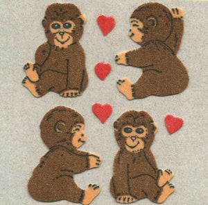 Pack of Furrie Stickers - Love Chimps