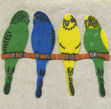 Load image into Gallery viewer, Pack of Furrie Stickers - Budgies On Perch