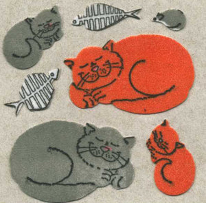 Pack of Furrie Stickers - Happy Cats