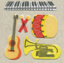 Load image into Gallery viewer, Pack of Furrie Stickers - Musical Instruments
