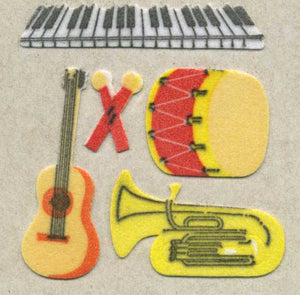 Pack of Furrie Stickers - Musical Instruments