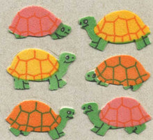 Load image into Gallery viewer, Pack of Furrie Stickers - Multi Coloured Tortoises