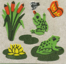 Load image into Gallery viewer, Pack of Furrie Stickers - Frogs on Lily Pads