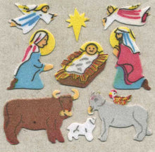 Load image into Gallery viewer, Pack of Furrie Stickers - Nativity Scene