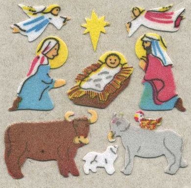 Pack of Furrie Stickers - Nativity Scene