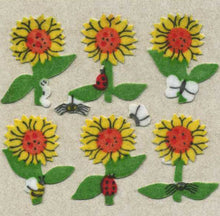 Load image into Gallery viewer, Pack of Furrie Stickers - Sunflowers
