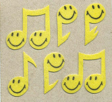 Load image into Gallery viewer, Pack of Furrie Stickers - Smiley Musical Notes