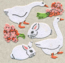 Load image into Gallery viewer, Pack of Furrie Stickers - Geese & Bunnies