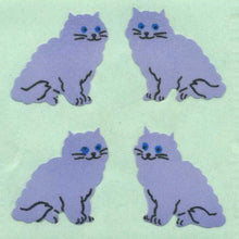 Load image into Gallery viewer, Pack of Paper Stickers - Purple Cats