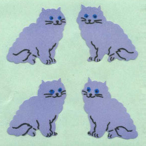 Pack of Paper Stickers - Purple Cats