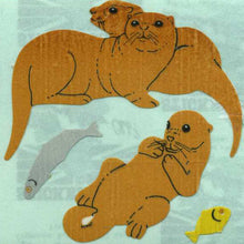 Load image into Gallery viewer, Pack of Paper Stickers - Otters