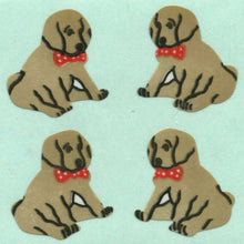 Load image into Gallery viewer, Pack of Paper Stickers - Puppies Sitting
