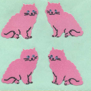Pack of Paper Stickers - Pink Cats
