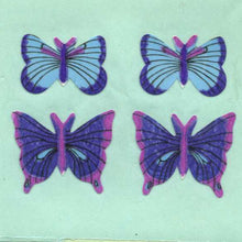 Load image into Gallery viewer, Pack of Paper Stickers - Blue Butterflies