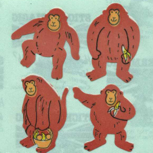 Pack of Paper Stickers - Monkeys