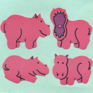 Pack of Paper Stickers - Hippos