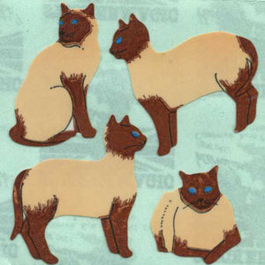 Pack of Paper Stickers - Siamese Cats