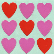Load image into Gallery viewer, Pack of Paper Stickers - Pink Hearts